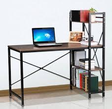 4 tier shelves corner computer desk wooden workstation pc laptop in corner computer desk uk