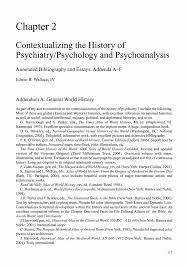 contextualizing the history of psychiatry psychology and inside