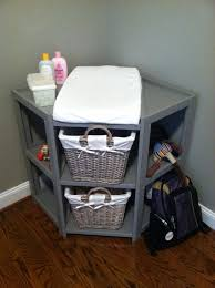Painted Corner Changing Table : Using A Rack As A Baby Corner Pertaining To  White Corner