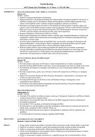 Public Health Resume Sample Health Specialist Resume Samples Velvet Jobs 27