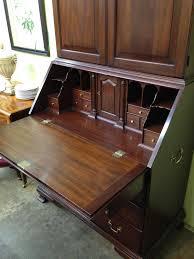 mahogany drop front secretary