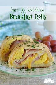 Ham Egg And Cheese Breakfast Rolls Little Dairy On The Prairie