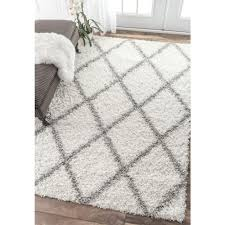 nuloom shanna shag white  ft  in x  ft area rug  room