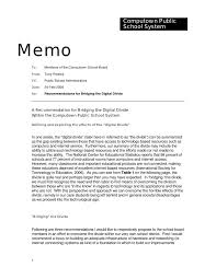 memorandum sample business computown public school system memo to members of the school