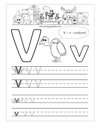 Practice Writing Letters Worksheet For Kindergarten | Save Template
