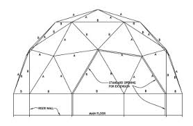 dome house plans. Interesting Plans 2 Frequency Geometry Flat Top Riser Wall Intended Dome House Plans L