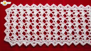 Youtube Crochet Patterns Gorgeous Festive Table Runner Crochet Pattern Looks Fancy Easy Pattern