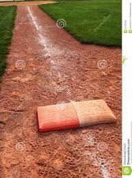 Double First Double First Base Chalk Foul Line Stock Image Image of league 1