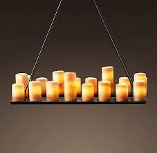 pillar candle rectangular chandelier 39 elegant linear precious