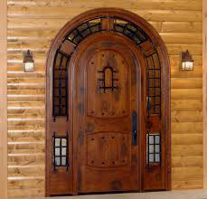 log home wood entry doors. highest quality wood door construction including engineered stiles and rails. close up pictures log home entry doors