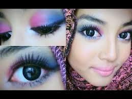 msian bridal makeup purple blue
