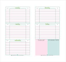 homework planner template pdf daily planner template 29 free word excel pdf document free
