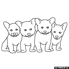 Small Picture Litter of Puppies Coloring Page