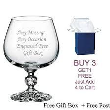 personalised bohemia crystal glass brandy best man usher wedding engraved gift