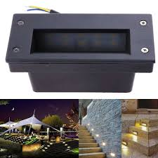 corner lighting. Wall Light LED Footlights 3W Waterproof Corner Lights Indoor Outdoor Villa Stair Stepping Lamp Lighting