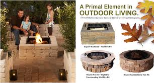 modern ideas gas fire pit kits for round square brick
