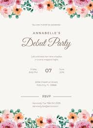Free Invitation Template Download Debut Invitations Free Formal Debut Invitation Template Download 344