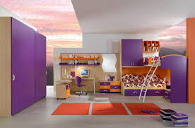 Purple And Orange Bedroom Decor Awesome Spacious Themed Childrens Beds Design In Orange And Purple