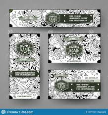 Doodling Designs Templates Corporate Identity Vector Templates Set With Doodle Soccer
