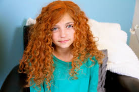 Girl with red curly hair