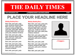 Newspaper Template Google Google Doc Newspaper Template