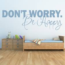 Life Quote Wall Stickers Don't Worry Be Happy Wall Sticker Inspirational Quote Wall Decal 64