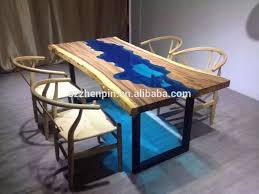 solid wood dining table gl inlaid dinning table raw wood slab with gl inlay photo detailed about solid wood dining table gl inlaid dinning table