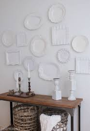 brilliant plates hang white plates on wall easy and inexpensive decorating with in plates on wall w