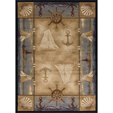 tayse rugs nature beige 8 ft x 10 ft lodge area rug