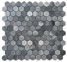 greystoke 1x1 hexagon honeycomb polished mosaic floor wall tile