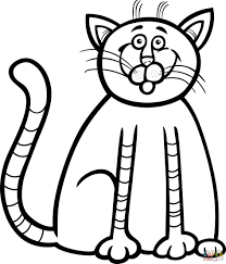 Small Picture Coloring Pages Cute Kitten Coloring Page Free Printable Coloring