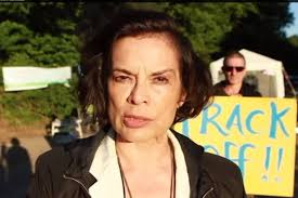 Bianca Jagger gave her support to protesters opposing energy firm Cuadrilla's ... - Bianca-Jagger