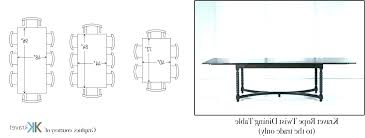 dining tables common dining table sizes images set designs choice image