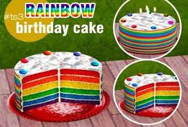 Tscc Creator Rainbow Birthday Cake The Sims 3 Interactive