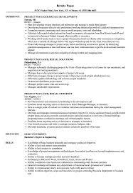 Project Manager Retail Resume Samples Velvet Jobs