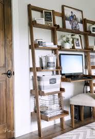 ... Fascinating White Ladder Desk Sawyer White Leaning Desk Diy Leaning Desk  Bookshelf And Crisp ...
