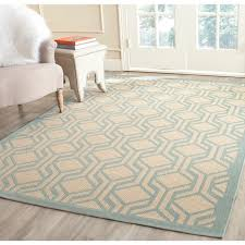 safavieh courtyard modern geometric beige aqua indoor outdoor rug 8 x 11 is a machine made rugs that is made from polypropylene mainly use for indoor