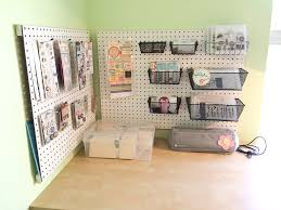 Pegboard storage bins Ultrawall Organization Pegboard Storage For Crafters Scrapbook Update Baskets Baskets For Pegboard Wall Control Organization Pegboard Storage For Crafters Scrapbook Update Baskets