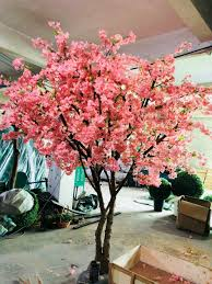Fake Cherry Blossom Tree With Lights Hot Item 300cm Peach Blossom Tree Cherry Blossom Artificial Tree For Wedding Decoration