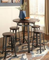 unique combining rustic aesthetics stunning counter height pub table set with brown wood planked pine