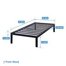 metal platform bed frame. [ Model C ] - Heavy Duty Steel Slat Platform Bed, Sturdy \u0026 Durable Bed Metal Frame N