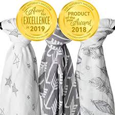 Muslin Swaddle Blanket Set 'Wanderer' Large 47x47 ... - Amazon.com