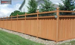 wood privacy fences. Ivy Topped Wood Privacy Fence Fences D