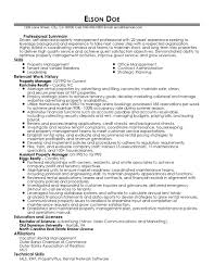 Apartment Manager Resume Property Manager Real Estate Agent Resume