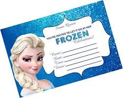 Frozen Birthday Invitations Partystuff Cards Frozen Birthday Invitation Card Invitation 16 Pieces Party Item