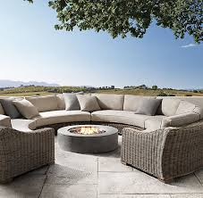 patio circular outdoor furniture outdoor furniture big woven arched modular sofa with grey