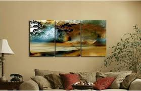 ... Modern Decorative Discount Three Wall Art Piece Canvas Thunderstorm  Modern Abstract Painting Large Font Cheap Oil ...