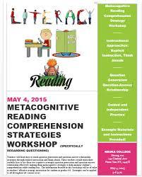 Metacognitive Reading Comprehension Strategy Workshop Flier
