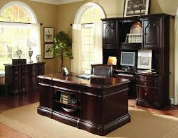 Home Office Furniture Ideas Charming Home Office Furniture Ideas Executive Desk Credenza In Dark Brown Lacquer Finishing Wood With Under F