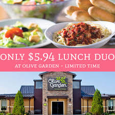 for a limited time only head over to olive garden to snag a quick easy lunch you can purchase the lunch duo special for just 5 94 and here s how